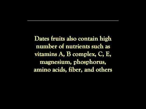 Health Benefits Date Fruit