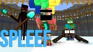 Monster School : SPLEEF CHALLENGE - Minecraft Animations