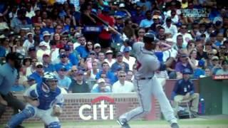 Derek Lee's debut against the Cubs as a Brave
