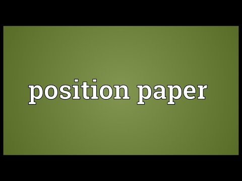 Header of position paper