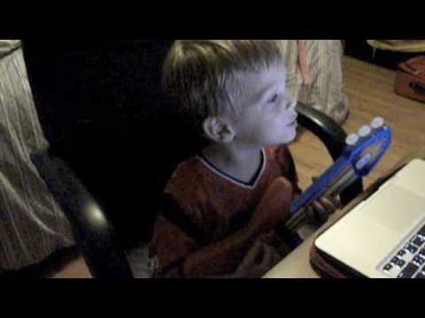 Little Boy Singing Big Green Tractor video