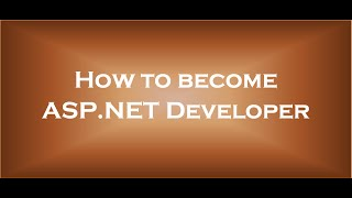 How to become asp net developer