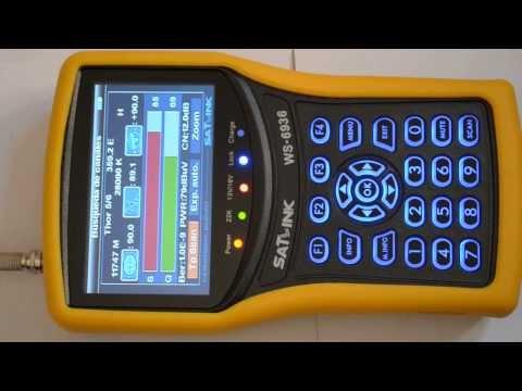 Medidor de campo Satlink WS6936 Tdt Sat Analizador de espectro