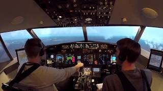 Engine fire during takeoff in a Boeing 737-800 simulator at LAX