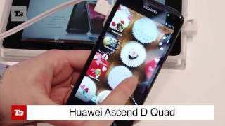 Huawei Ascend D Quad Core Hands-on - First Look at New Android 4.0 Phone