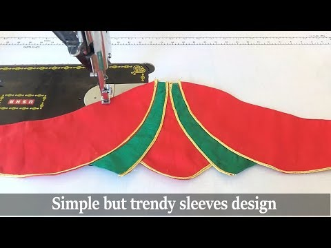 beautiful sleeves design for blouse and Kurti   #5