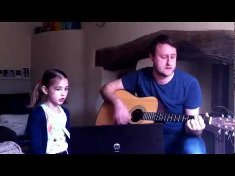 Daddy and Flora singing Dreaming by Allo Darlin