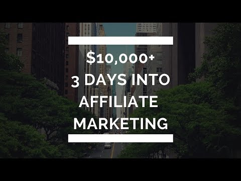 $10,000+ Profit In My First 3 Days Into Affiliate Marketing with PROOF!