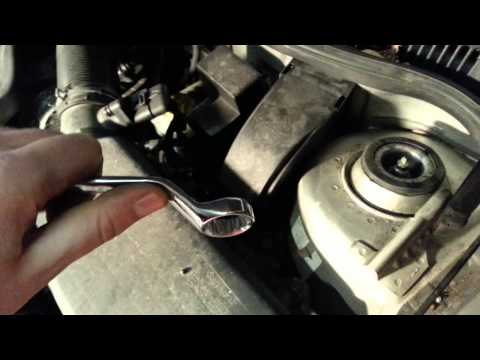 How to remove top shock mount on a MK4 vw jetta Golf or GTI when changing your shocks DIY