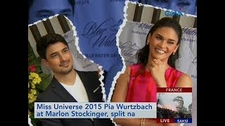Saksi: Miss Universe 2015 Pia Wurtzbach at Marlon Stockinger, split na