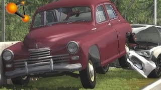 BeamNG.Drive Mod : GAZ M20 Classic car (Crash test)