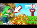 EVERYTHING You TOUCH = FIRE In MINECRAFT! (Burning Hands)