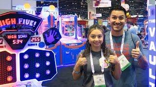 So many NEW fun arcade games at the IAAPA Expo 2016!!!