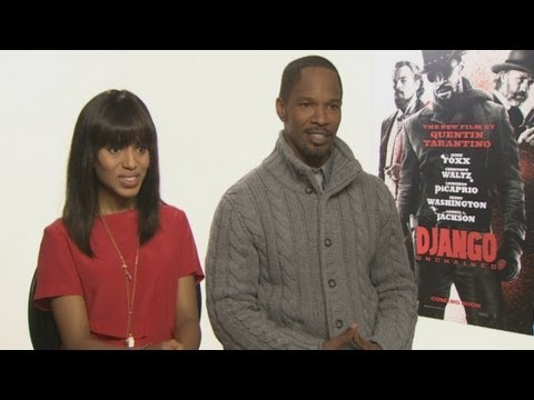 Jamie Foxx and Kerry Washington on Django Unchained