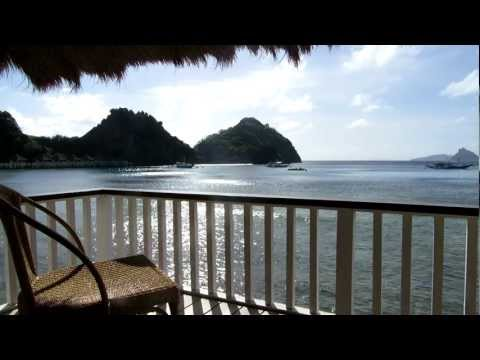 View from our balcony at El Nido Resort at Apulit Island, Philippines