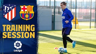 Last workout before the clash against Atlético de Madrid