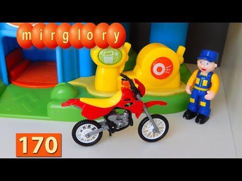 Мультик про машинки: Мотоцикл Автомойка Город машинок 170 серия Мультфильмы для детей видео mirglory
