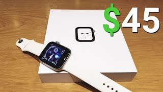 Apple Watch 4 Replica For $45 Unboxing & Review 😱😲