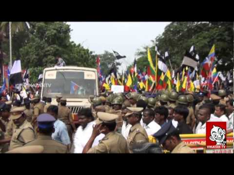 Anti- Kudankulam Activists Protest Outside TN Assembly