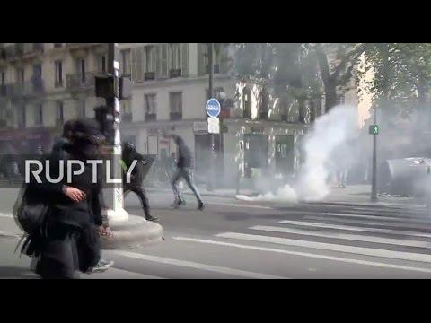LIVE: Protest against Le Pen and Macron takes place in Paris