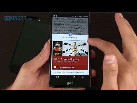 Google Chrome Touch to Search Demo