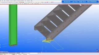Tekla - cách vẽ cầu thang với Tekla Struture