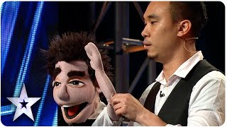 Ventriloquist Shawn Chua Performs Magic For Judges   Asia's Got Talent 2015 Ep 2