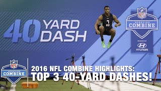 Top 3 Fastest RB 40-Yard Dashes | 2016 NFL Combine Highlights
