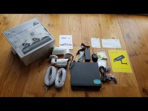 Unboxing and Review of an A-ZONE POE Home Security Surveillance System
