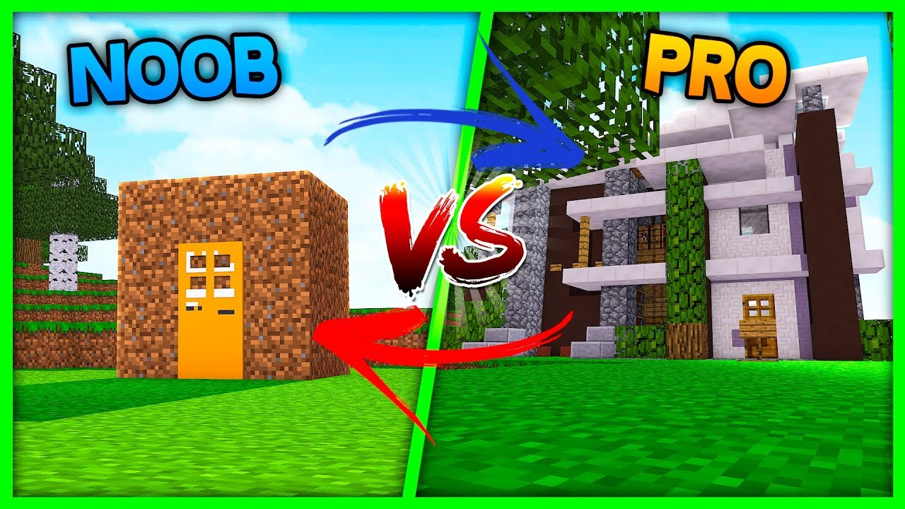 Minecraft - NOOB HOUSE VS PRO HOUSE (House vs House challenge)