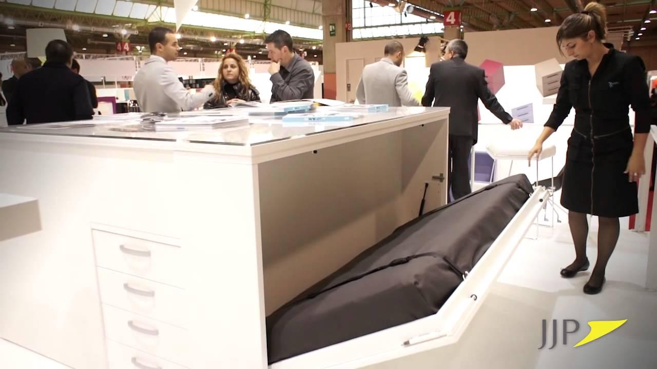 Sistema de camas y literas abatibles de muebles jjp youtube - Sistema cama abatible ...
