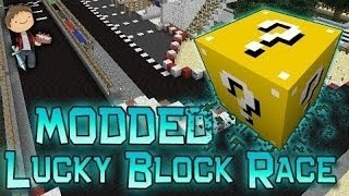 Minecraft: Lucky Block Race 4! Modded Mini-Game w/Mitch & Friends!