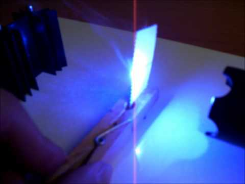 Wicked Lasers Spyder III Arctic G2- Laser Thermal Capabilities/Burning Tests