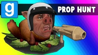 Gmod Prop Hunt Funny Moments - MC Wildcat! (Garry