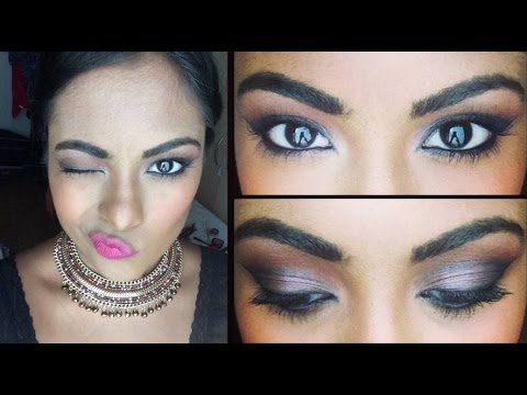 Sexy Glam Prom Makeup - Smokey Eyes With Bright Lips : Collab W  Makeupbygio video