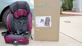 Evenflo Chase LX Harnessed Booster Car Seat Review, Reese