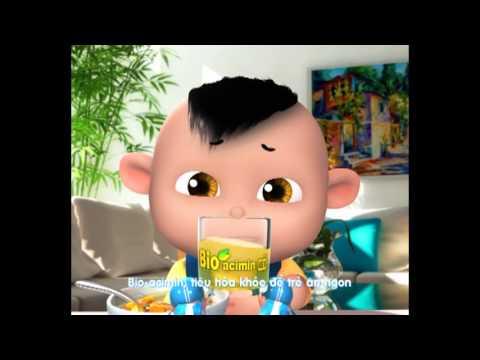 Phim hoạt hình quảng cáo Cốm vi sinh Bio-acimin New