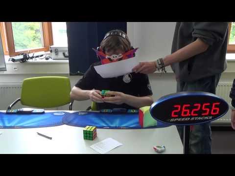 Maskow: World Record in Rubik's Cube blindfolded, average 25.45