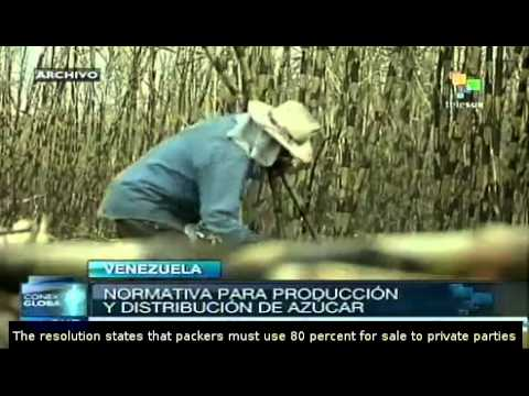 Venezuela regulates production and distribution of sugar