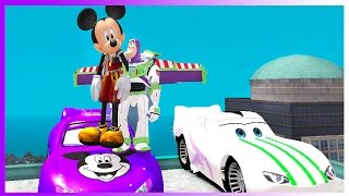 Toy Story Buzz Lightyear & Mickey Mouse Cars Lightning McQueen Video for children