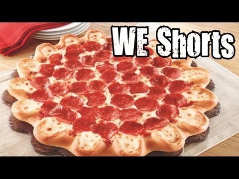 WE Shorts - Pizza Hut Crazy Cheesy Crust Bacon Pizza