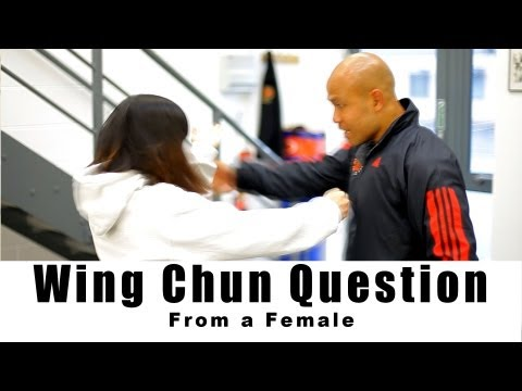 wing chun Training - from a female: How to deal with hand on shoulder.Q3 Image 1