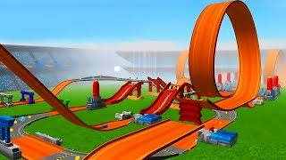 Hot Wheels: Track Builder | NEW Track Gameplay Video For KIDS