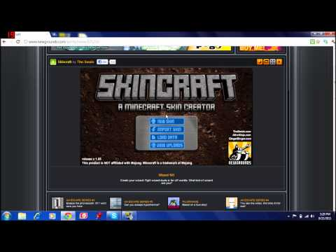 How to make a skin in Minecraft with Skincraft