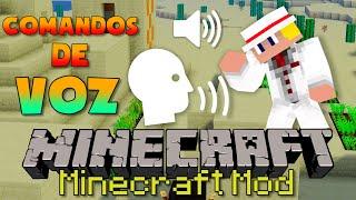 Minecraft Mod: JOGUE MINECRAFT APENAS COM A VOZ | Comandos de Voz! | Harken Mod