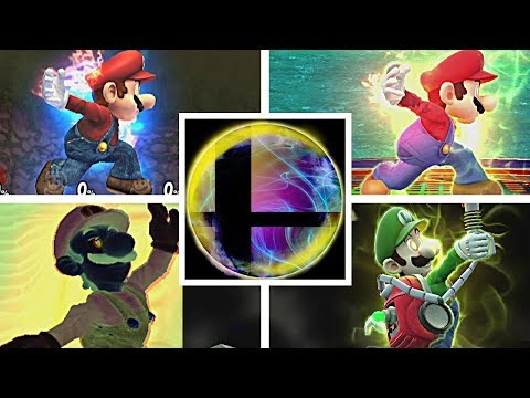 Super Smash Bros Ultimate All Characters Trailers & All Final Smashes So Far (Switch) Mario Kirby