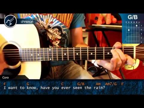 Como tocar Have You Ever Seen the Rain PRINCIPIANTES en Guitarra Acustica HD Tutorial Acordes