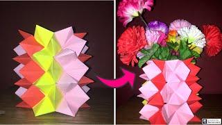 DIY Crafts: How To Make A DIY Paper Flower Pot | Home Decor | You Can DIY | Decoration Ideas