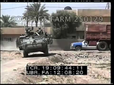 Operation Iraqi Freedom:  Strykers Patrolling Abu Dashi 250129-21