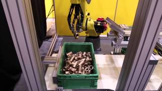 FANUC Robot Uses New Bin Picking Gripper & 3D Vision to Bin Pick Non-Ferrous Valves